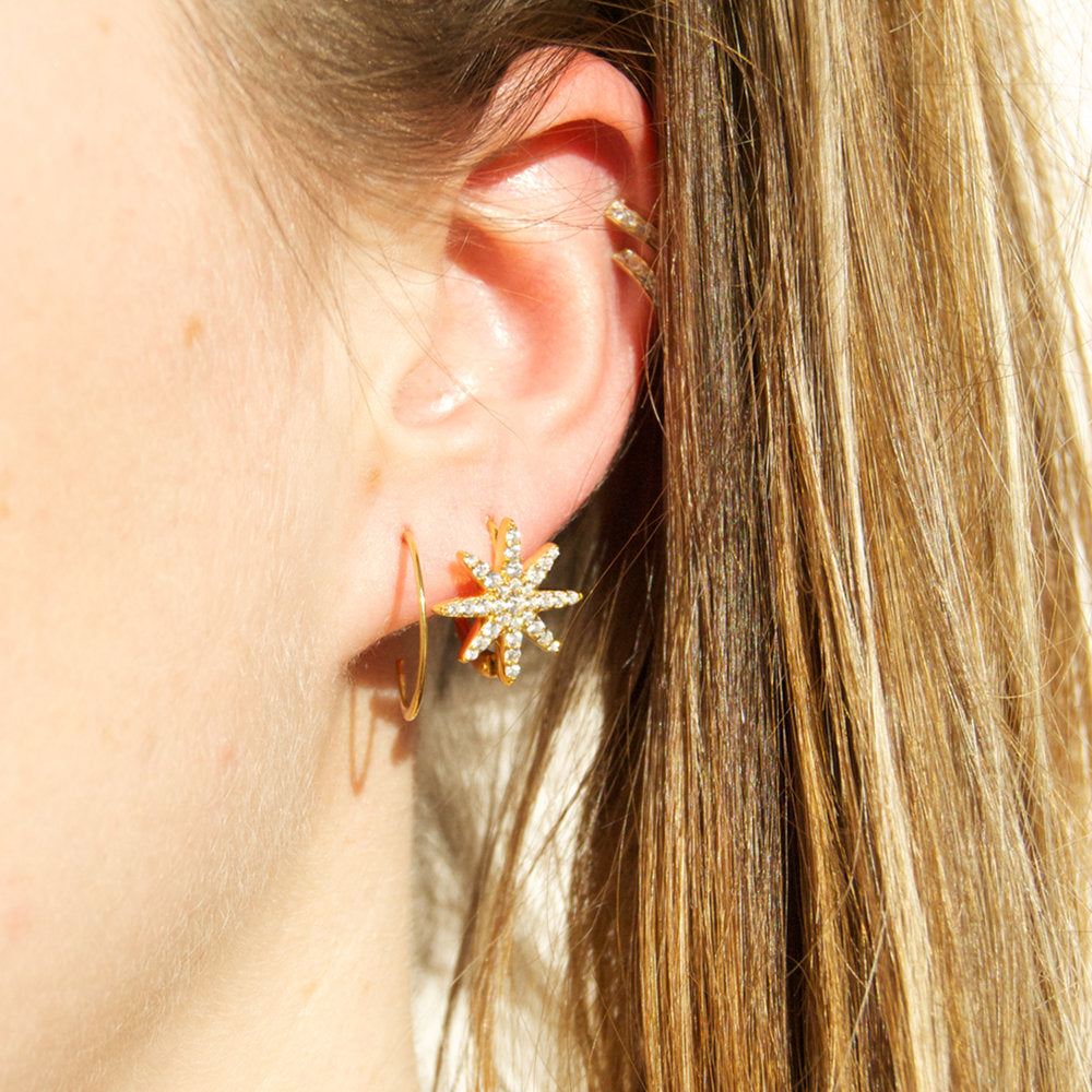 Star CZ Earrings - seol-gold