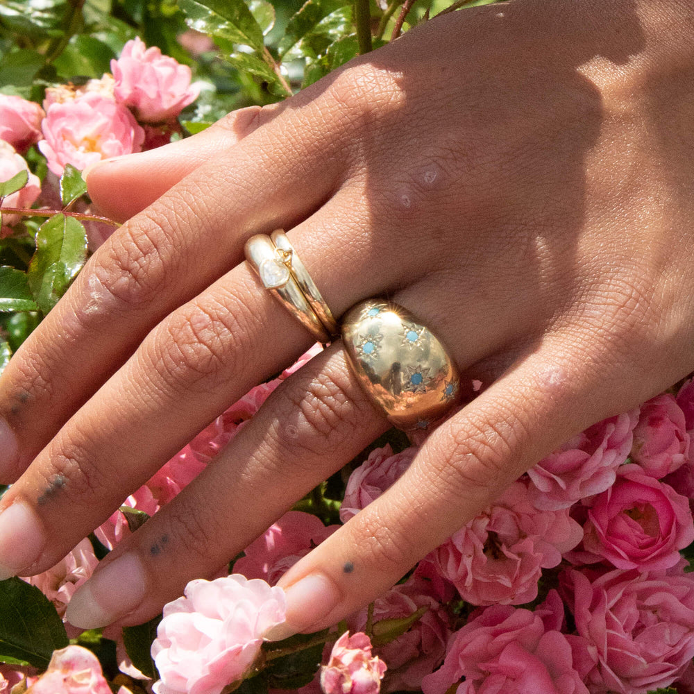 turquoise ring - seol gold
