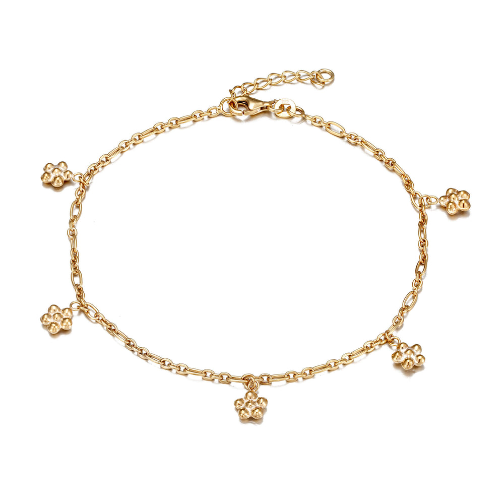 Daisy Charm Anklet