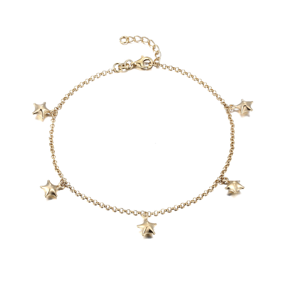 Gold charm anklet - seol-gold