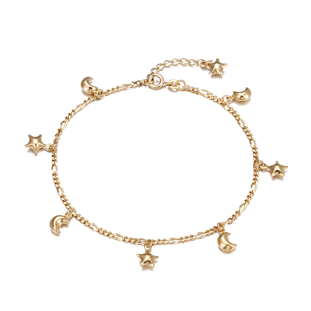 Star Moon Figaro Anklet
