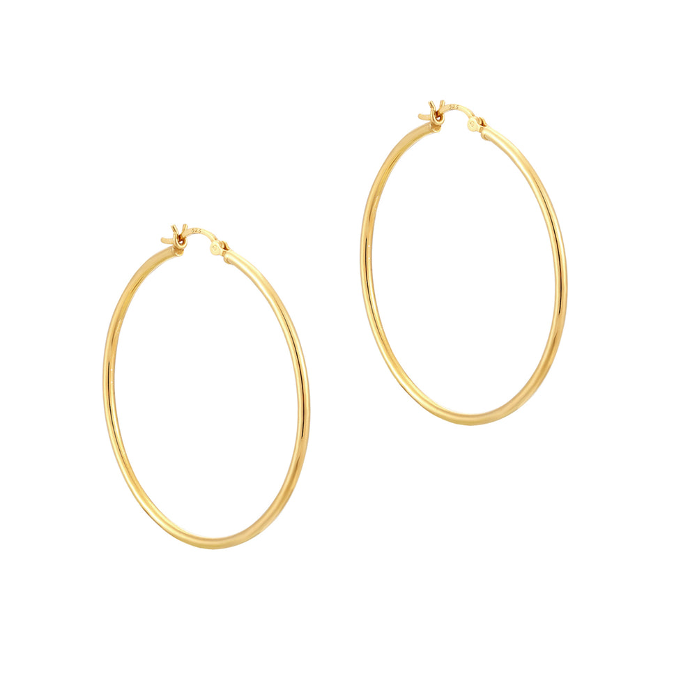 large thin gold hoops - seolgold