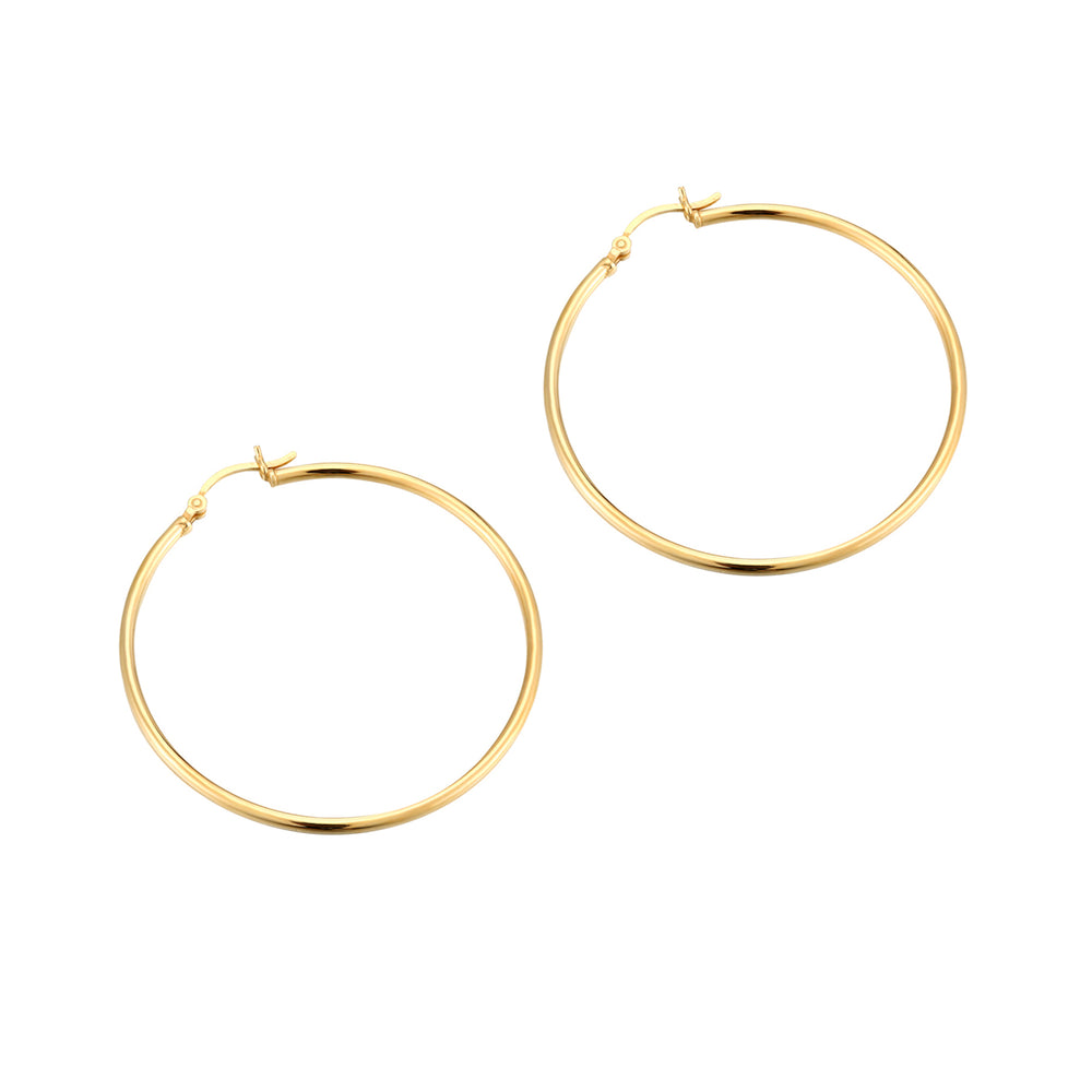 large gold hoop earrings - seolgold