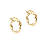 gold hoop earrings - seolgold