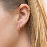 Dotted Creole Hoops - seol-gold