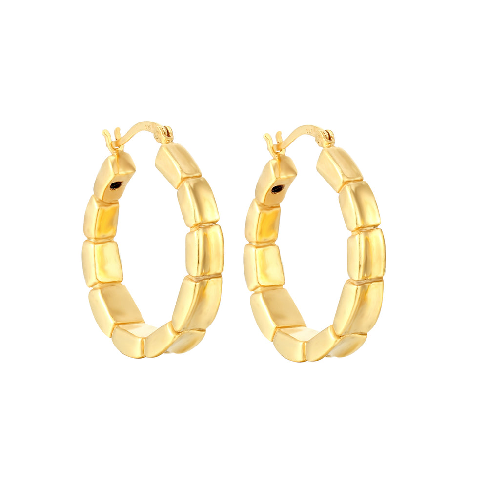 honeycomb hoops - seol gold