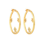 star hoops - seol gold