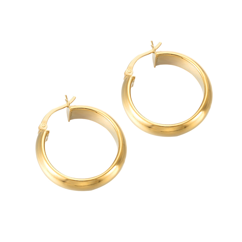 Large Rounded Creole Hoops