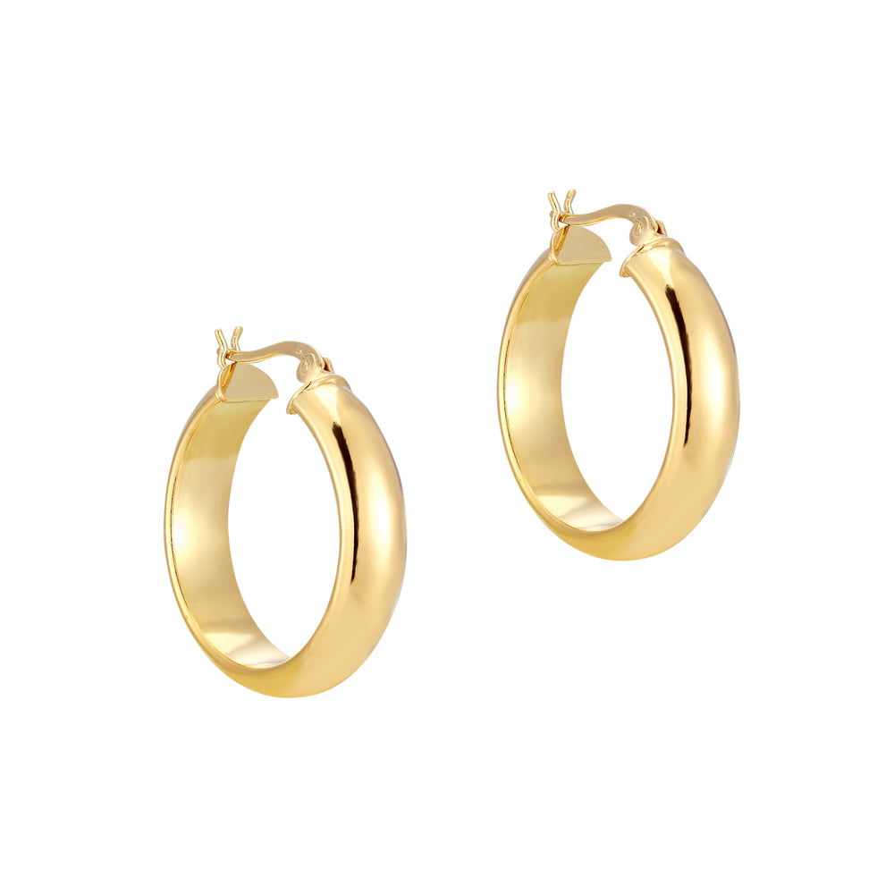 large gold chunky hoops - seolgold