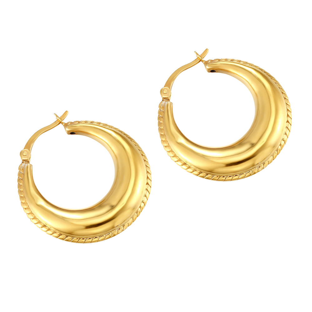 Curved Creole Hoops - seolgold
