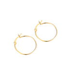 thin gold hoops - selgold