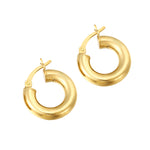 Thick Gold Creole Hoops