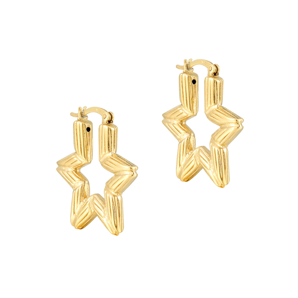 Star Hoops - seol-gold