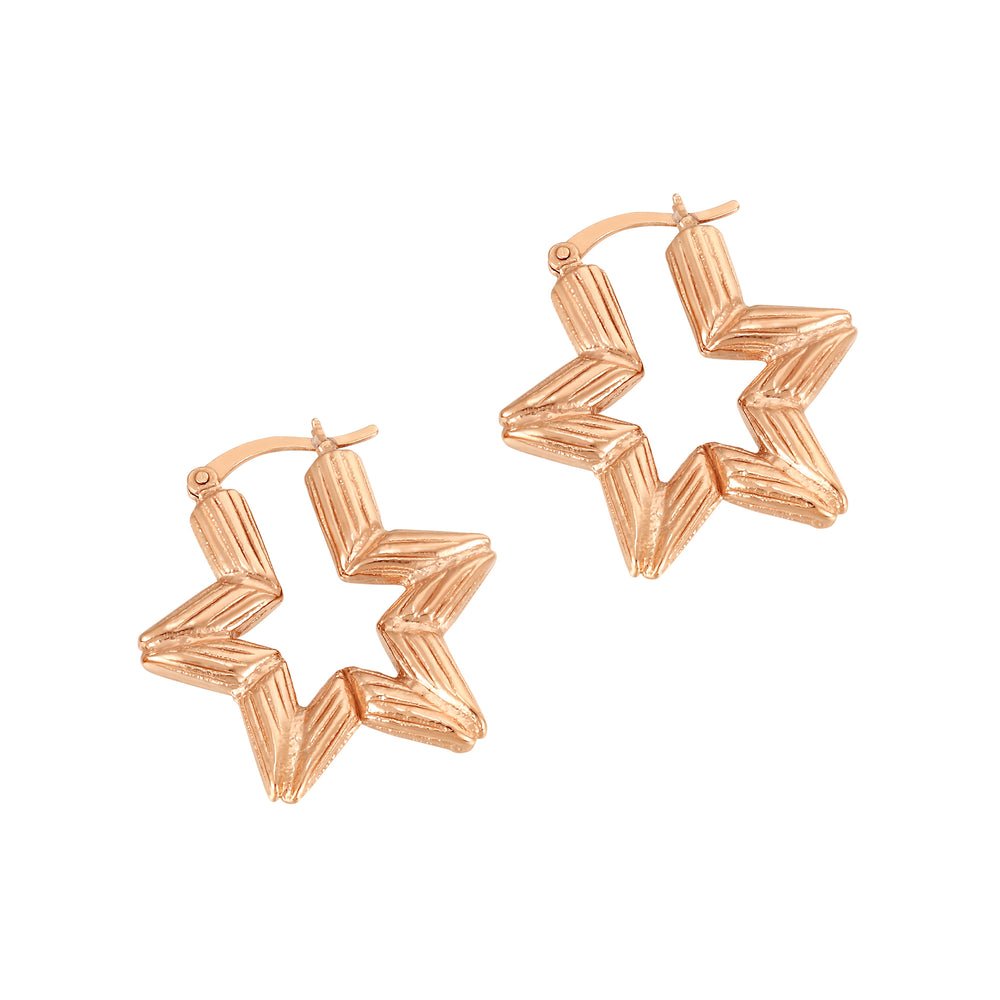 Bamboo Star Hoops