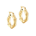 Gold bamboo hoops - seol-gold