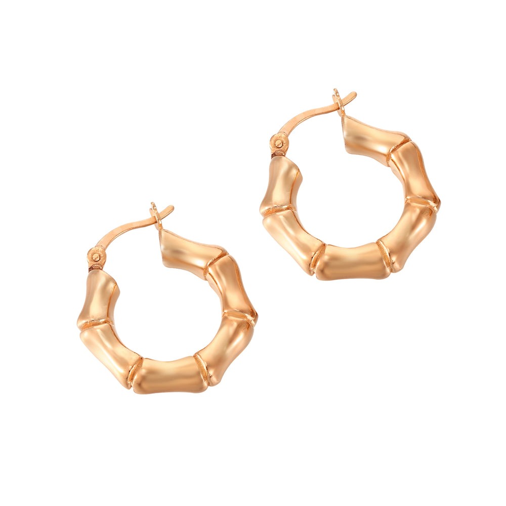 Bamboo Creole Hoop Earrings