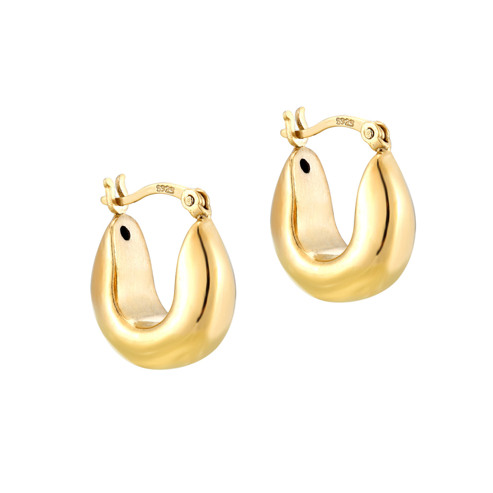 Thick Curved Hoops - seol-gold