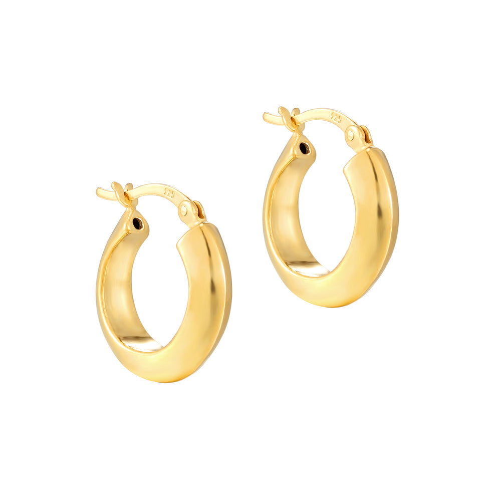 Chunky Creole Hoop Earrings