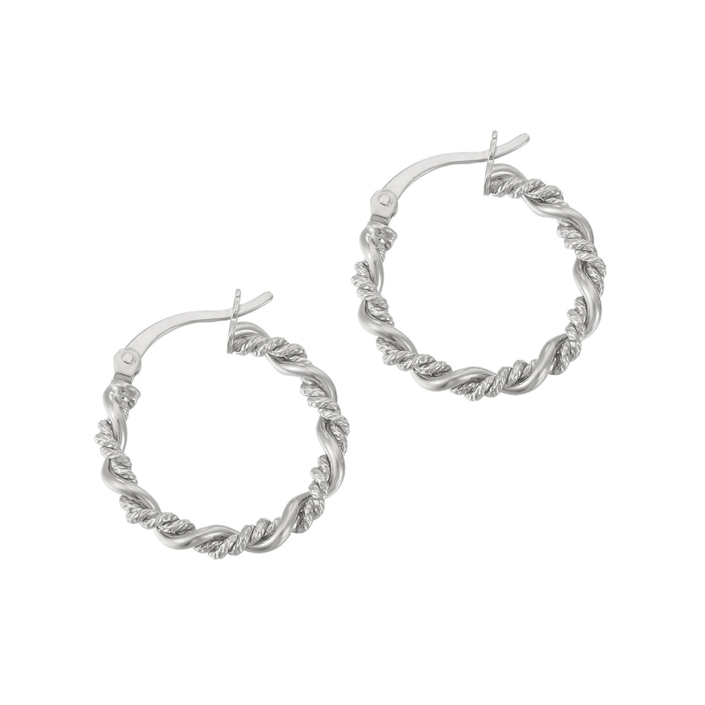 Twisted Rope Creole Hoops