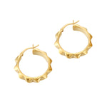gold spike hoops - seolgold