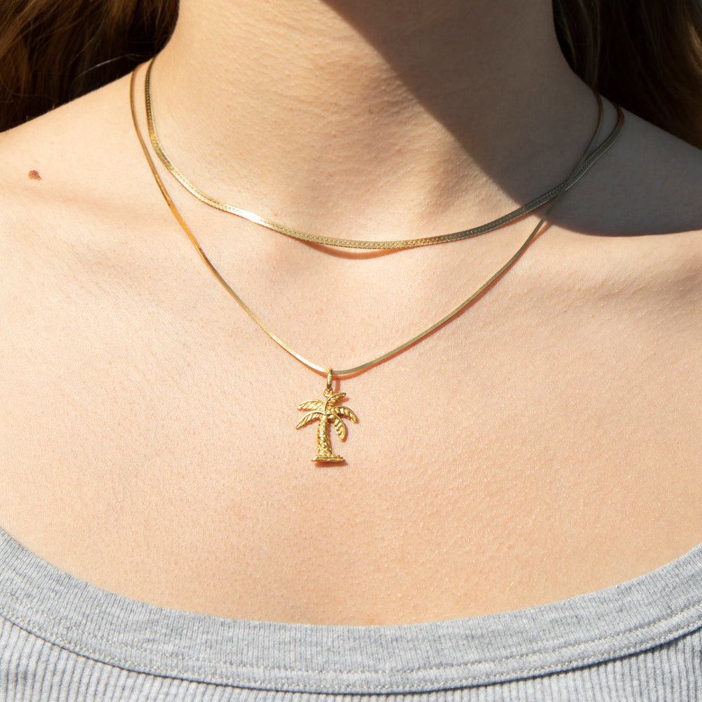 Palm Tree Pendant - seol-gold