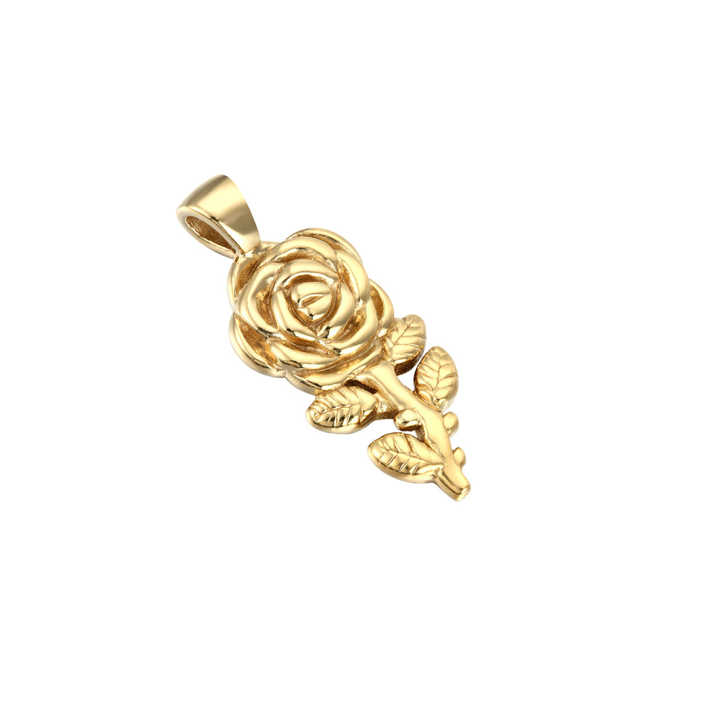 Large Rose Charm Pendant