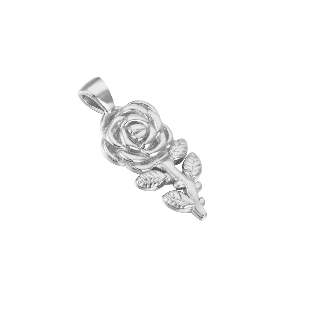Silver Rose necklace - seol-gold