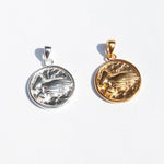 Praying Hand Medallion Charm - seol-gold