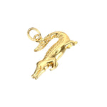 Crocodile Charm - seol-gold