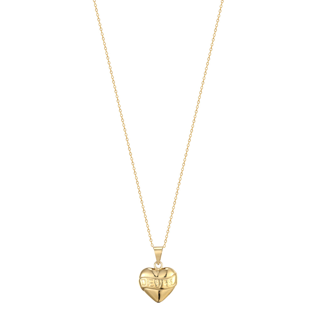Devil Heart necklace- seol-gold