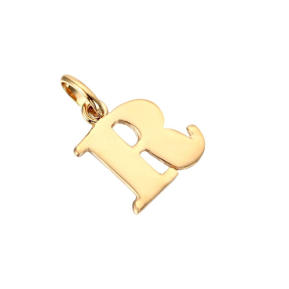 Initial Letter Charm Pendant