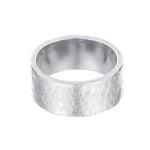 silver hammered ring - seol-gold