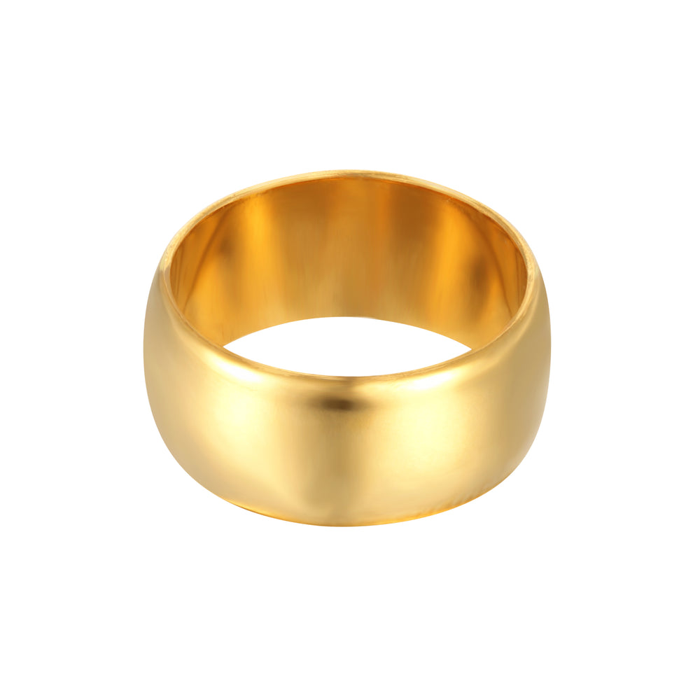 Thick Round Curved Ring
