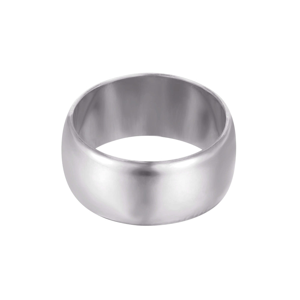 silver domed ring - seol-gold