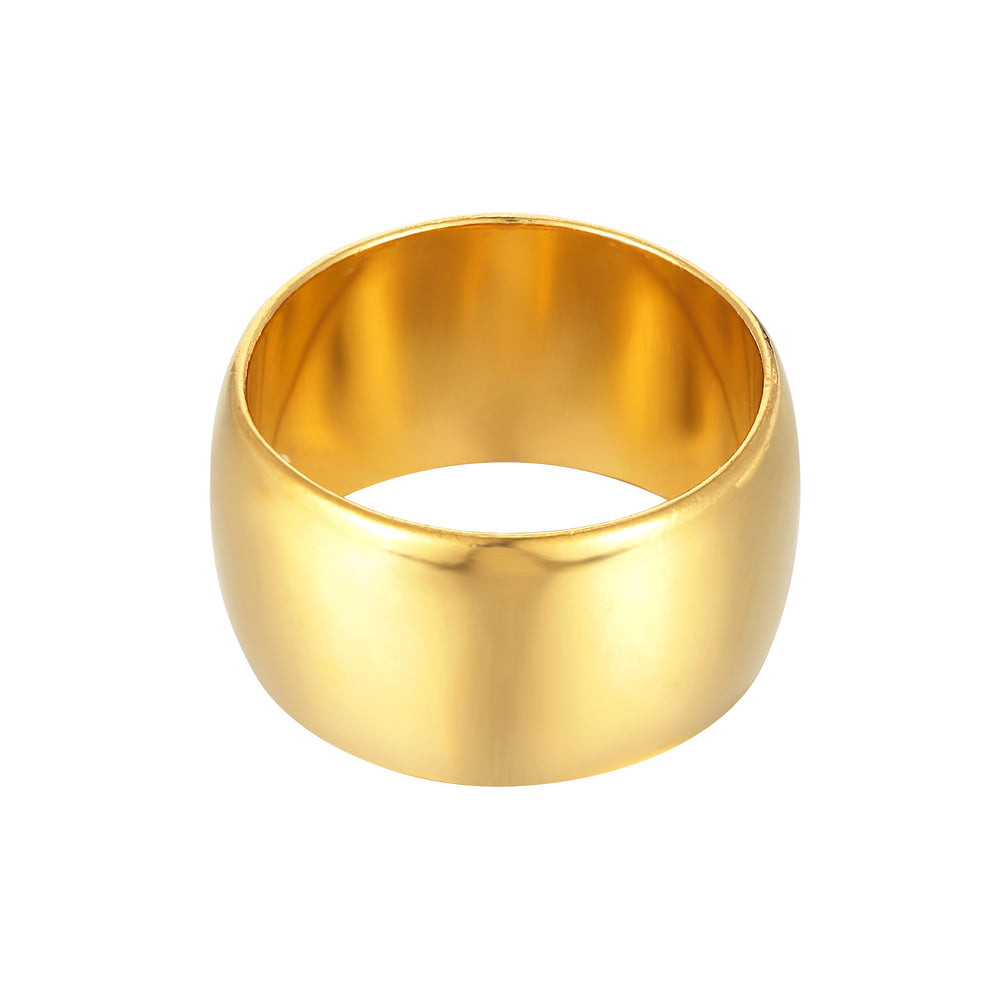 Wide Rounded Cigar Band Ring