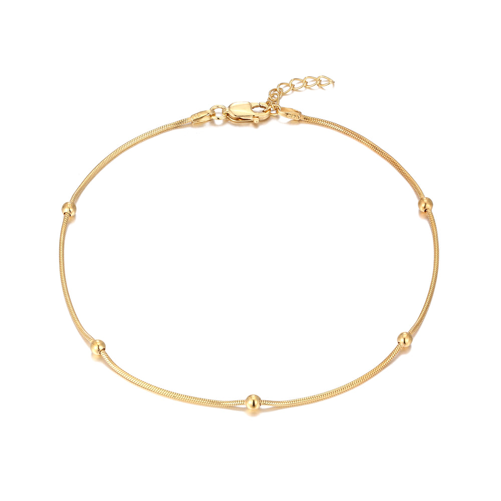 gold chain anklet - seolgold