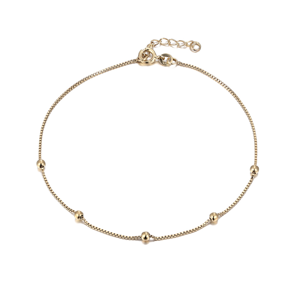 Gold Box Chain Anklet - seol-gold