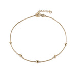 Box Chain Bead Anklet