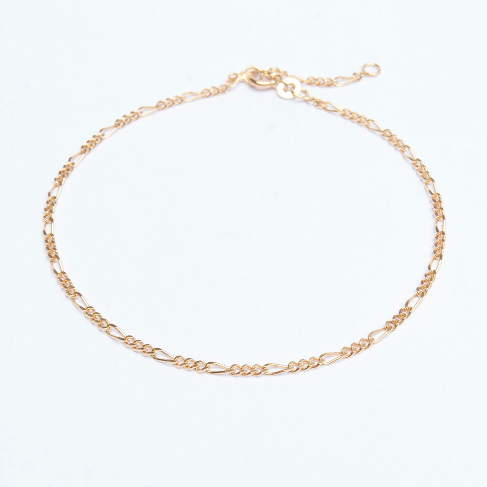 Figaro Chain Anklet - seol-gold