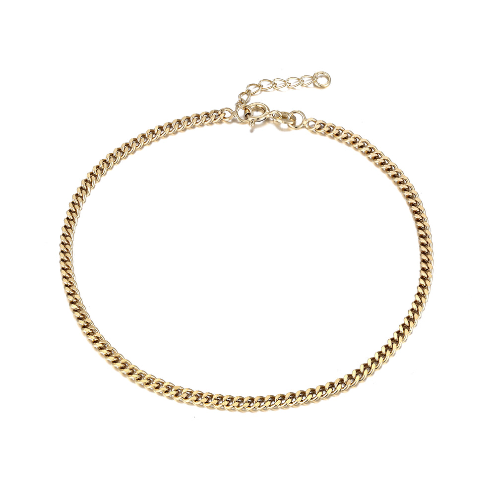 Curb Chain Ankle chain - seol-gold