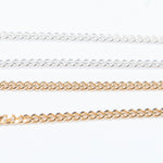 Gold Curb Chain Anklet - seol-gold