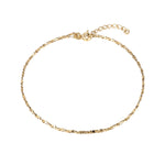 Gold twisted serpentine anklet - seol-gold