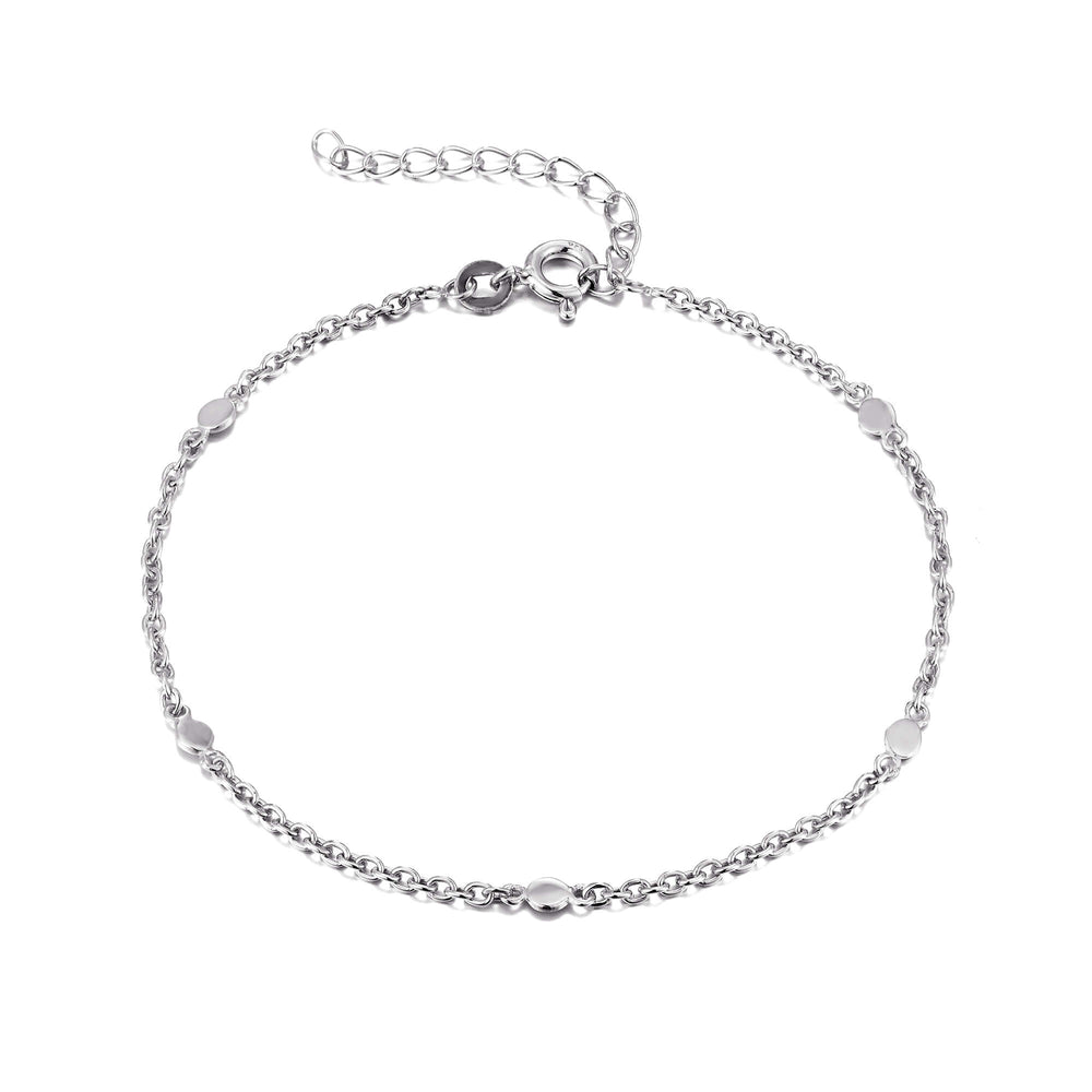 Silver Chain Anklet - seol-gold