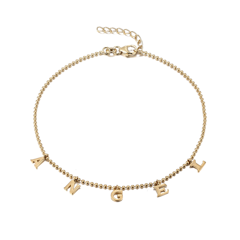 Angel Charm Anklet - seol-gold