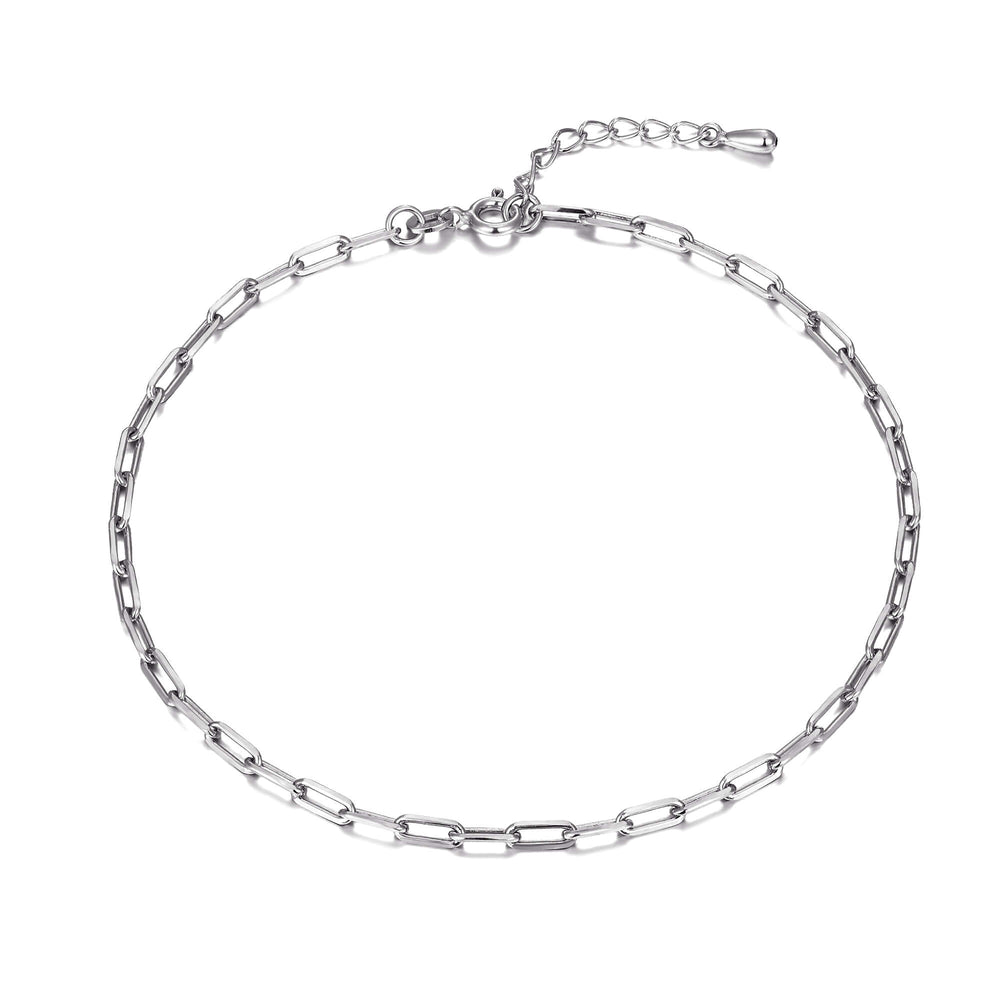 silver chain anklet -seol gold