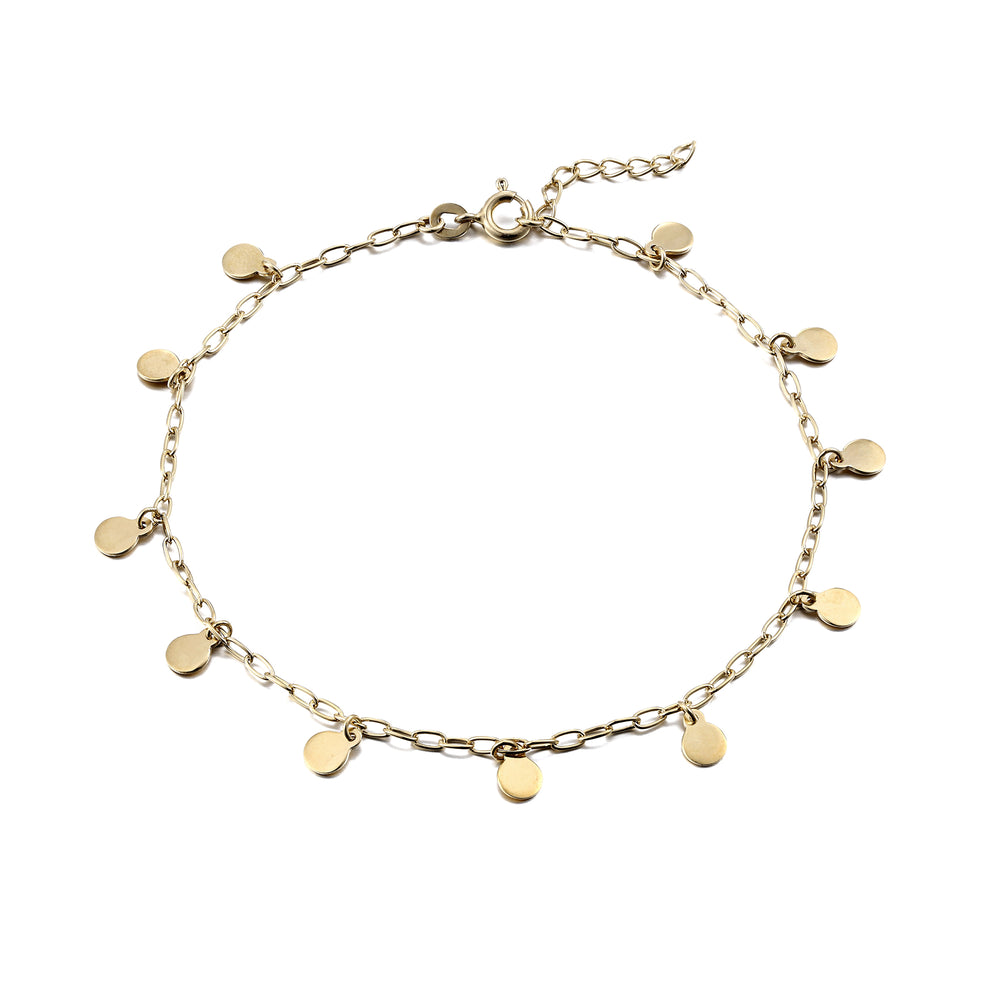 Gold charm ankle chain - seol-gold