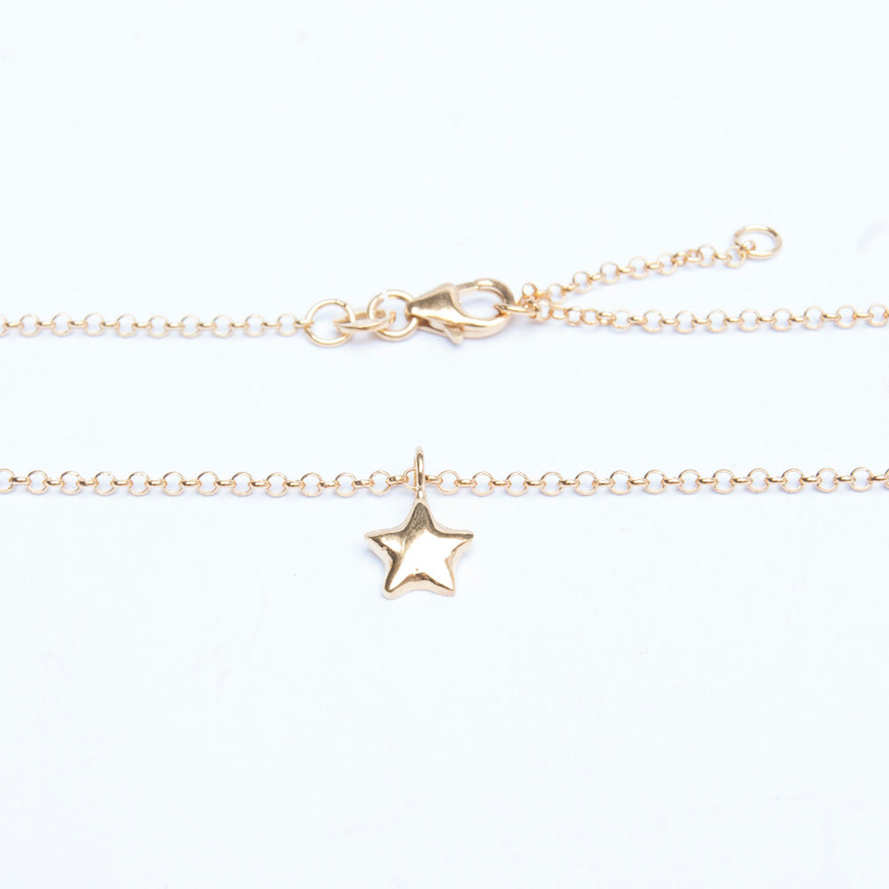 Star Charm Anklet - seol-gold