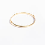 Chunky rounded bangle - seol-gold