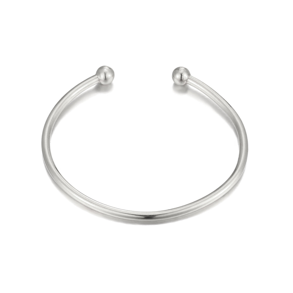 Silver Torque Bangle - seol-gold