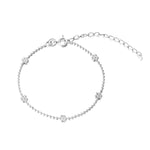 silver flower chain - seol gold
